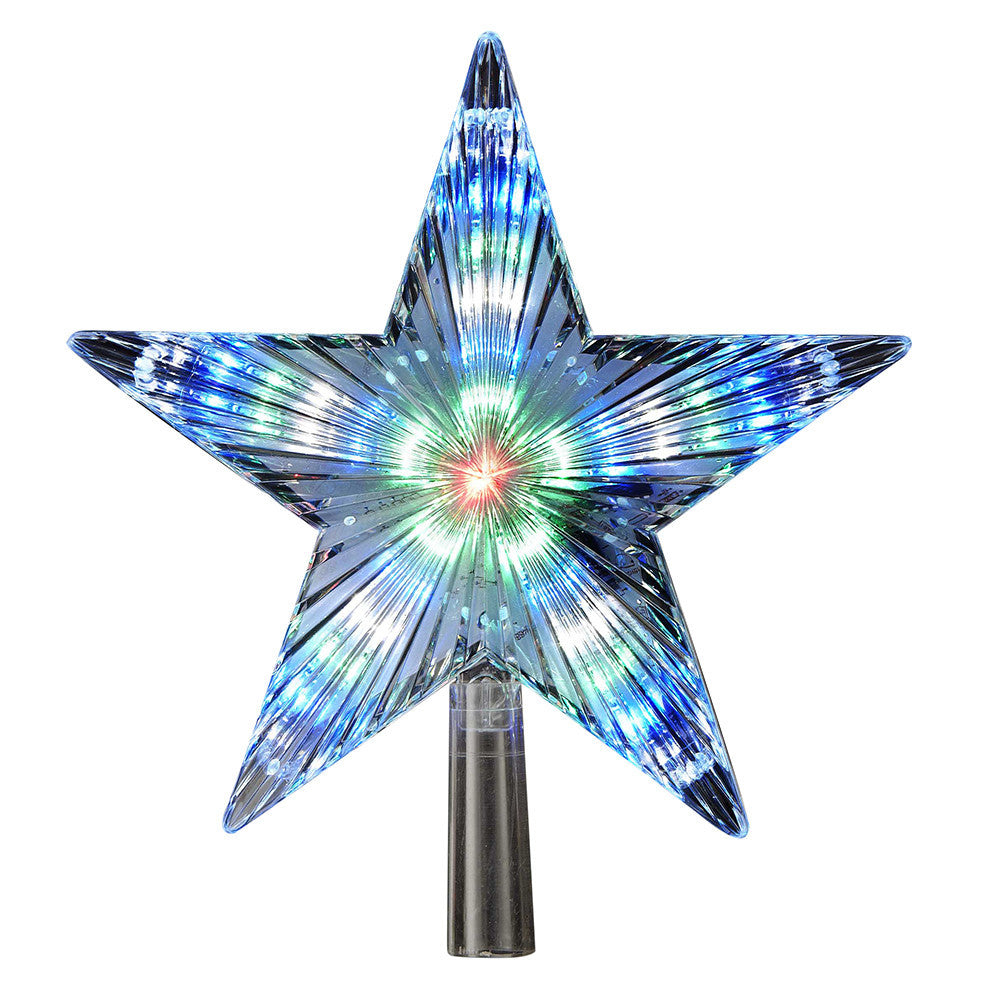 LED STAR TREE TOPPER,  COLOR CHANGING