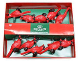 RED CARDINAL NOVELTY LIGHT SET 10/ LIGHT PLASTIC