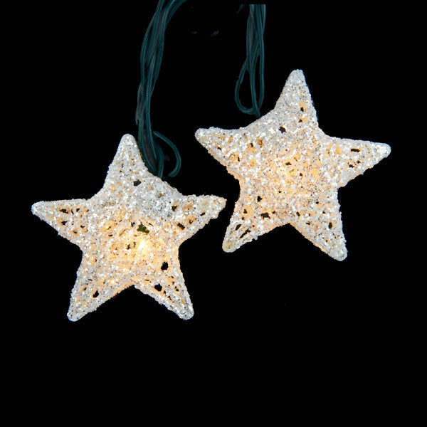 White Star Party Light Set, 10-Light Mini Novelty