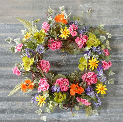 GERANIUM POPPY WREATH