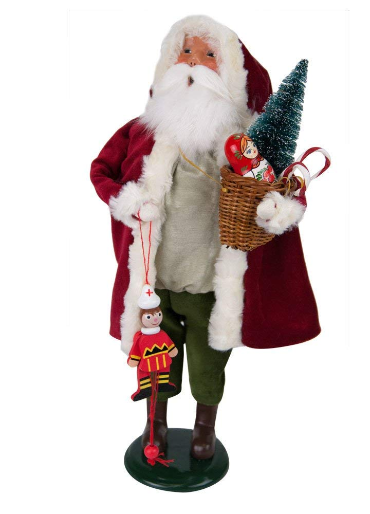 Byers Choice Santa with Wooden Toys