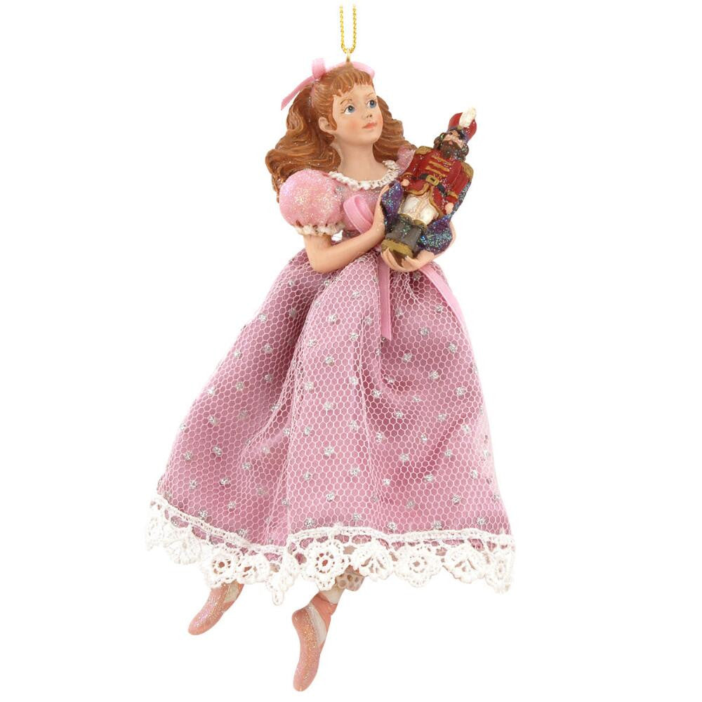 CLARA HOLDING NUTCRACKER ORNAMENT