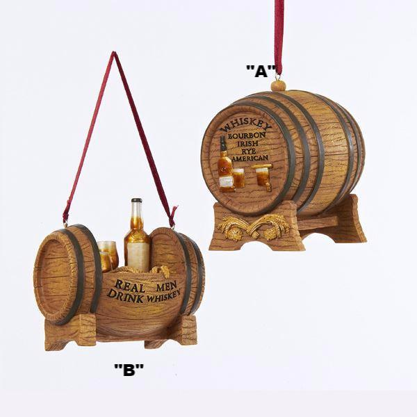 WHISKEY BARREL ORNAMENTS