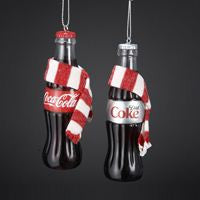 COKE BOTTLE WITH SCARF ORNAMENT