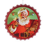 Coca-Cola Santa Bottle Cap Ornaments