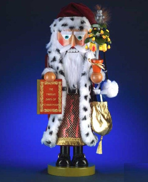 STEINBACH PEAR TREE SANTA NUTCRACKER