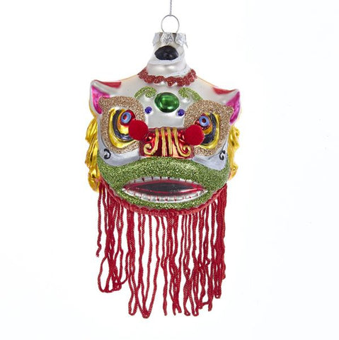 Chinese Lion Mask Ornament, J8442