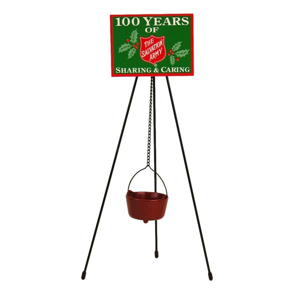 Byers' Choice Red Kettle with Tripod