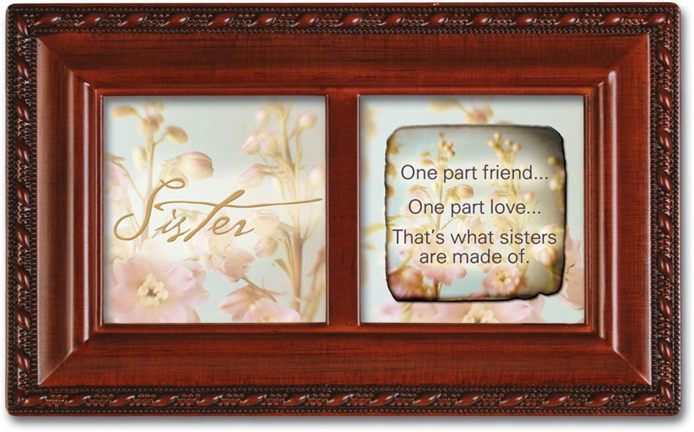 Sister Petite Woodgrain Music Box, Plays Thats What Friends Are For