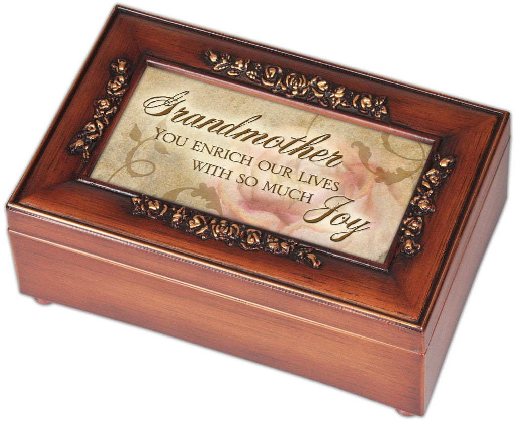 Petite Rose Music Muscial Jewelry Box