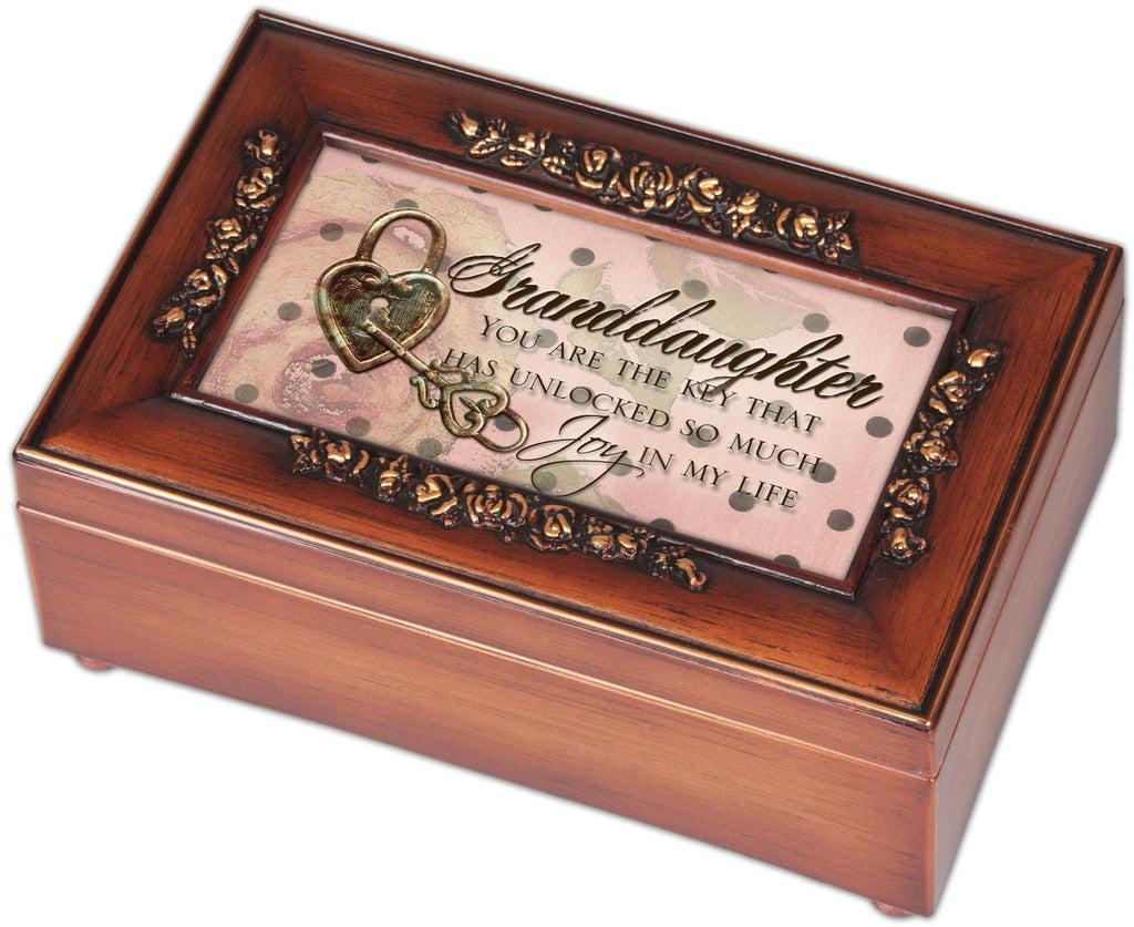 Petite Rose Granddaughter Music Jewelry Box, Plays You Light Up My Life