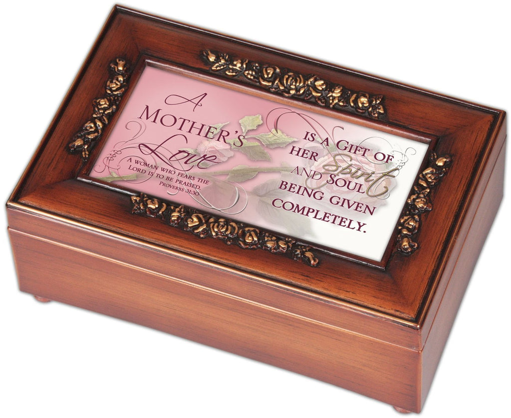 Mother's Love Rose Mother Mom Music Musical Jewelry Box, Plays What a Wonderful World