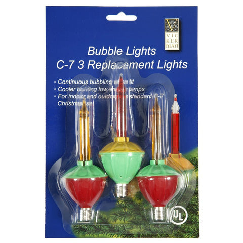 Bubble Lights Replacement Bulbs 3 pk