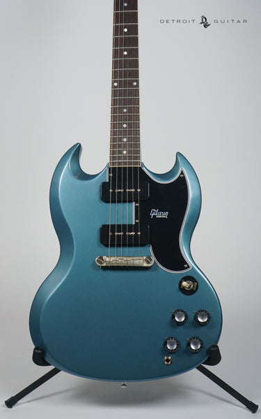 Gibson Custom 1963 SG Special Reissue Lightning Bar VOS Pelham Blue w/ Case