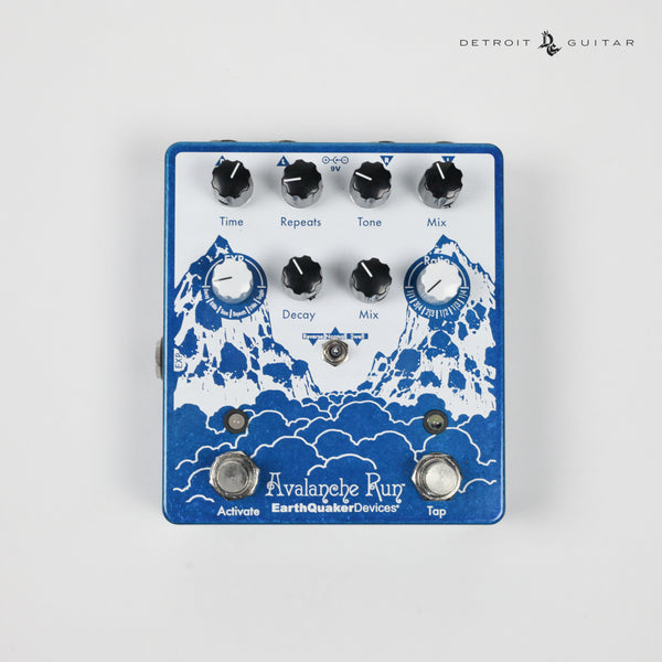 EarthQuaker Devices Avalanche Run V2 Stereo Reverb and Delay w/ Tap Tempo