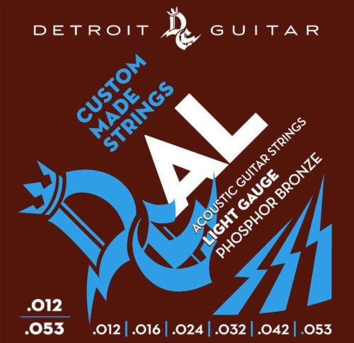 Detroit Guitar Acoustic Guitar Strings Light 12-53