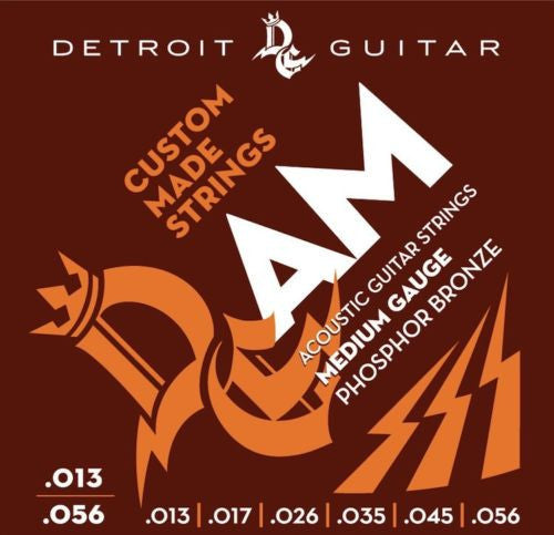 Detroit Guitar Acoustic Guitar Strings Medium 13-56