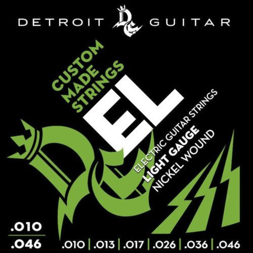 Detroit Guitar Electric Guitar Strings Light 10-46