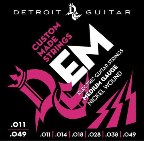 Detroit Guitar Electric Guitar Strings Medium 11-49