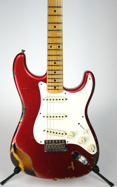 Fender Custom Shop Limited '56 Strat Heavy Relic Candy Apple Red Over 2-Tone Sunburst
