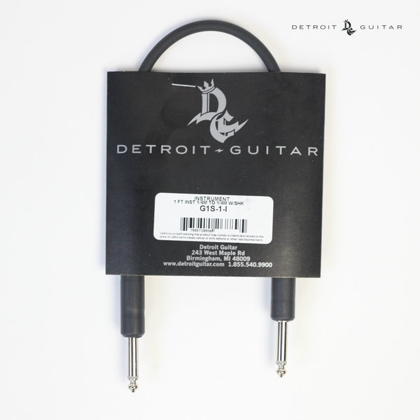 Detroit Guitar 1' Instrument Cable