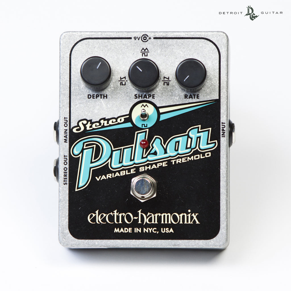 Electro-Harmonix Stereo Pulsar Variable Shape Analog Tremolo