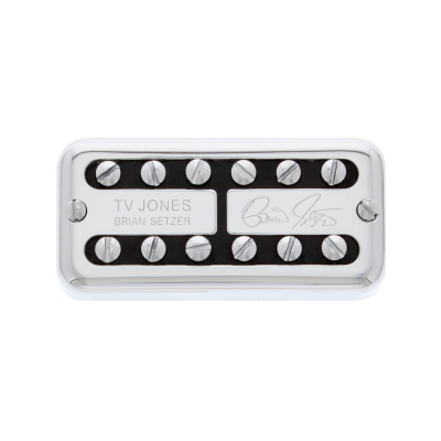 TV Jones Brian Setzer Signature Universal Mount Chrome Bridge Pickup