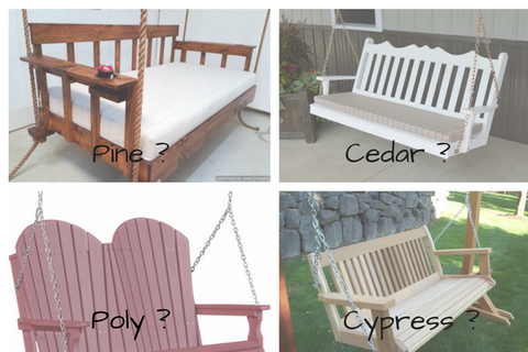 Porch swing material type