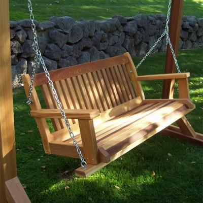 Wooden Swing with Stand