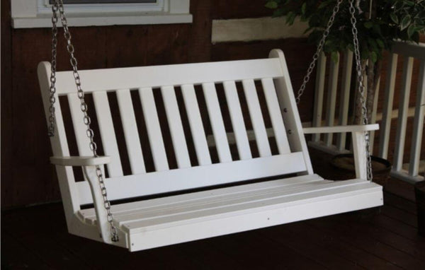 Amish A&L Furniture - Traditional Poly Porch Swing - 4ft, 5ft