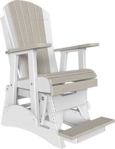 Luxcraft Poly Adirondack Balcony Glider Chair (Raised Chair - Counter Height)
