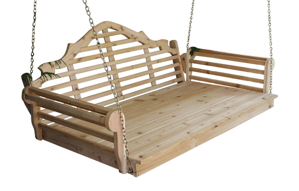 Cedar Marlboro Swing Bed (Unfinished)