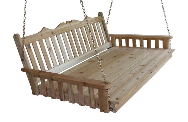 "Twin Swing Bed 75"" - Red Cedar - Royal English - A&L Furniture"