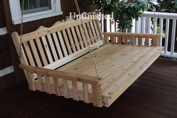 "A&L Furniture - 75"" Twin Swing Bed - Unfinished"