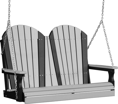 4ft Luxcraft Adirondack Poly Porch Swing (Recycled Plastic)