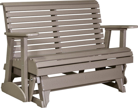Luxcraft 4ft Rollback Recycled Plastic Patio Glider (Poly)