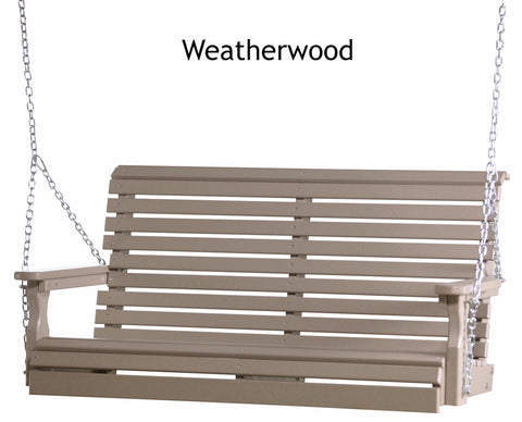 Luxcraft 4ft Rollback Poly Porch Swing (Recycled Plastic)