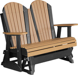 Luxcraft 4' and 5' Poly Adirondack Patio Glider (Recycled Plastic)