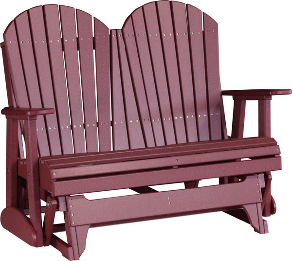 Luxcraft 4ft and 5ft Poly Adirondack Patio Glider (Recycled Plastic)