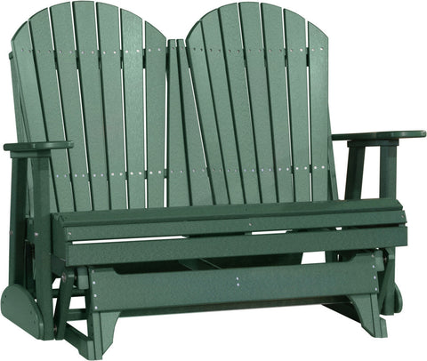 Luxcraft 4ft Recycled Plastic Poly Adirondack Patio Glider