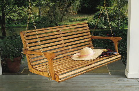 Classic 4ft Porch Swing - White Oak - Sittin' Easy