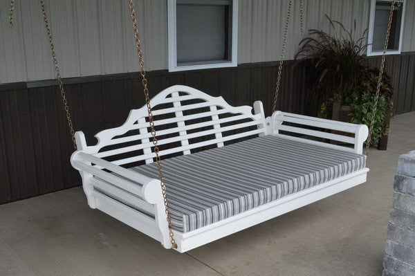 A&L Furniture- Marlboro Porch Swing Bed- Pine- White