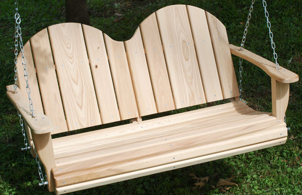 Adirondack Cypress Porch Swing - 4ft, 5ft, 6ft - JR Ables
