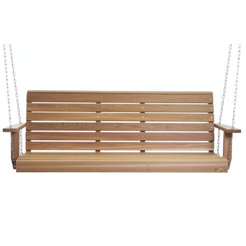 Bristol Red Cedar Porch Swing - All Things Cedar