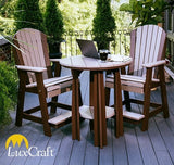 Luxcraft Recycled Plastic Adirondack Balcony Chair - Counter Height with Footrest