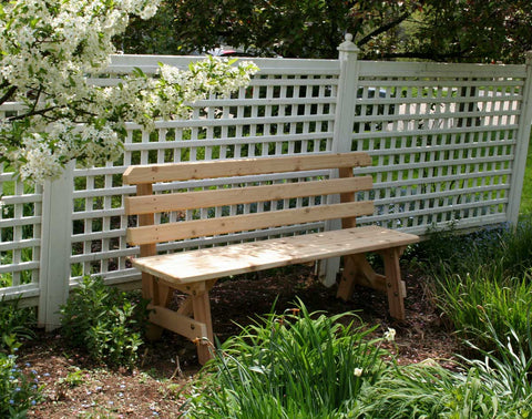 Cedar Backed Garden Bench  - Creekvine Designs - 4ft, 5ft, 6ft
