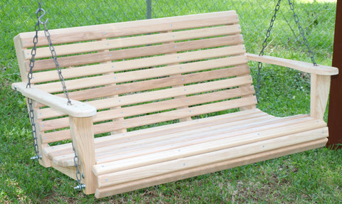 Classic Cypress Porch Swing - 3ft, 4ft, 5ft, 6ft - JR Ables
