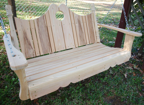 4ft Cypress Porch Swing - Cottage - JR Ables