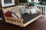A&L Furniture - Fanback Swing Bed - Unfinished