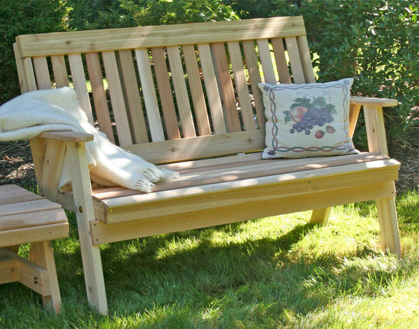 Countryside Garden Bench - Red Cedar - Creekvine Designs - 4ft, 5ft, 6ft